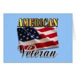 Ropa y regalos americanos del veterano felicitación