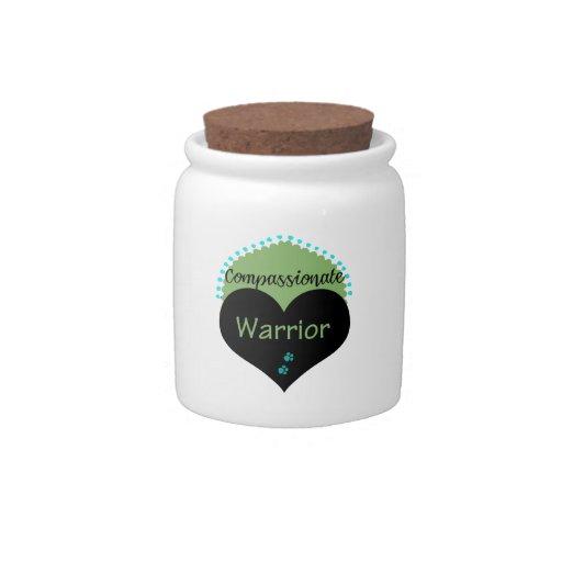 Ropa y regalos compasivos del guerrero tarro de cerámica para dulces