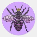 Ropa y regalos de la abeja reina de Carleigh Pegatinas Redondas