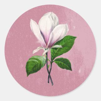 Ropa y regalos de la canción de la magnolia del pegatina redonda