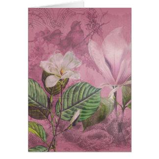 Ropa y regalos de la canción de la magnolia del vi tarjeta de felicitación