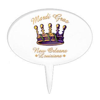 Ropa y regalos de la corona del carnaval decoración de tarta