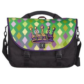 Ropa y regalos de la corona del carnaval bolsa para ordenador