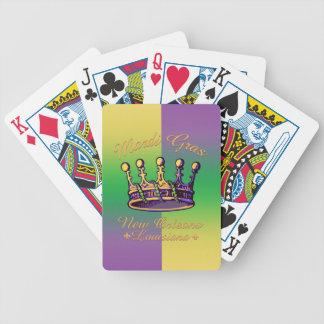 Ropa y regalos de la corona del carnaval baraja cartas de poker