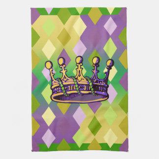Ropa y regalos de la corona del carnaval toallas
