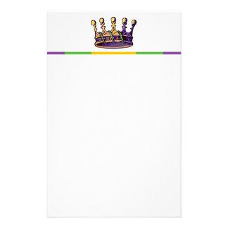 Ropa y regalos de la corona del carnaval papelería de diseño