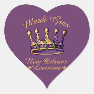 Ropa y regalos de la corona del carnaval calcomanías corazones personalizadas