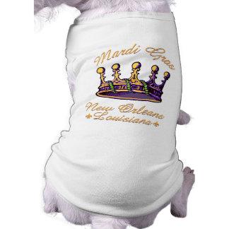 Ropa y regalos de la corona del carnaval camiseta de perrito