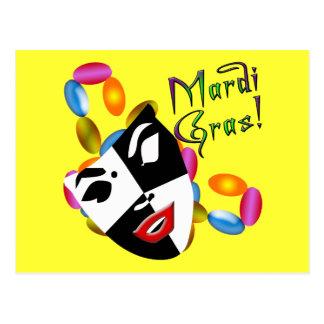 ¡Ropa y regalos de la máscara del carnaval! Tarjetas Postales