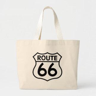 Ropa y regalos de la muestra de la carretera de la bolsa tela grande