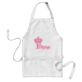 ropa y regalos de la princesa delantal