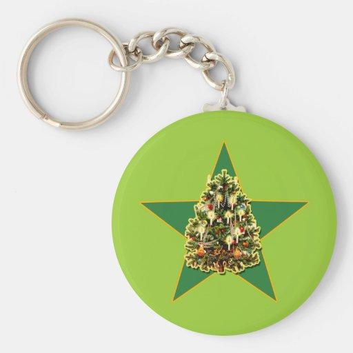 Ropa y regalos del día de fiesta del árbol de navi llavero
