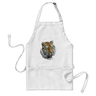 Ropa y regalos principales del tigre delantal