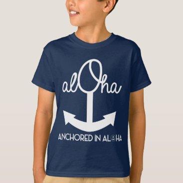 Ocean Themed Rope Anchor Keiki Shirt