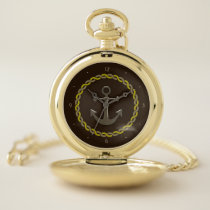 Rope and Anchor Pocket Watch