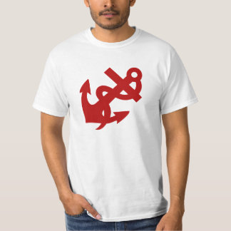 Rope and Anchor TShirt Red Anchor Tee Men's