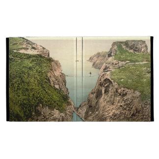 Rope Bridge Carrick-a-Rede County Antrim iPad Folio Cover