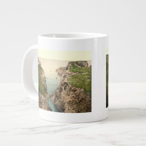 Rope Bridge, Carrick-a-Rede, County Antrim 20 Oz Large Ceramic Coffee Mug