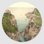 Rope Bridge, Carrick-a-Rede, County Antrim Round Stickers
