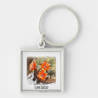 Rope Cactus Blooms Keychain