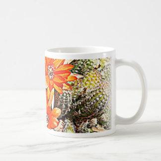 Rope Cactus Blooms Classic White Coffee Mug