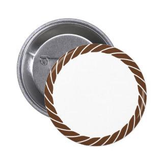 Rope Circle Border Pinback Button
