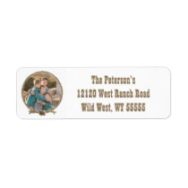 Rope circle western photo address labels