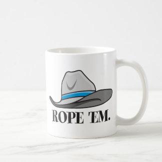 Rope 'em cowboy gear classic white coffee mug