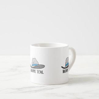 Rope 'Em Western Rodeo 6 Oz Ceramic Espresso Cup
