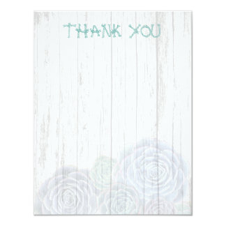 Rope Font Succulent Blank Thank You Note Card