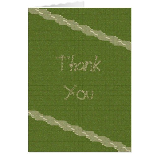 Rope Green Vertical Thank You Card