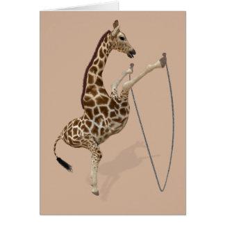 Rope Jumping Giraffe Athlete Card