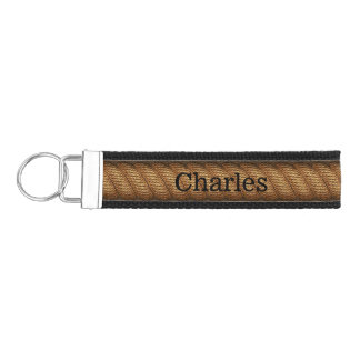 Rope Look Personalized Wrist Key Chain