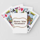 Rope los vaquero barajas de cartas