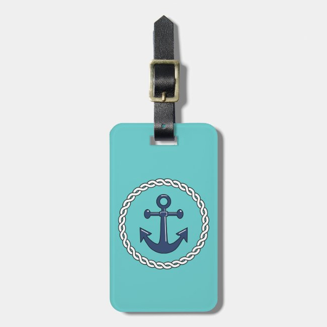 Rope n Anchor Aqua Personalized