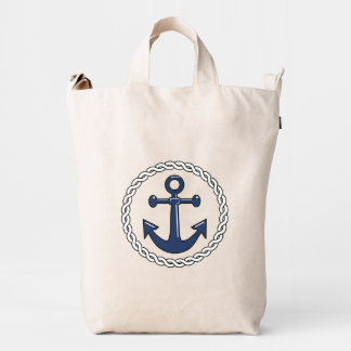 Rope n Anchor Single Sided Nautical Duck Bag