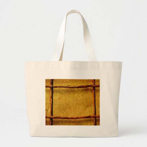 Rope pattern on paper background tote bags