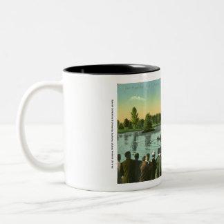 Rope Pull, Campus Pond Two-Tone Coffee Mug