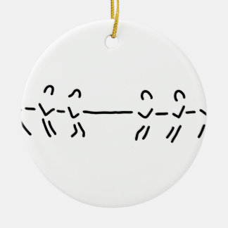 rope-pull rope-pull team ceramic ornament