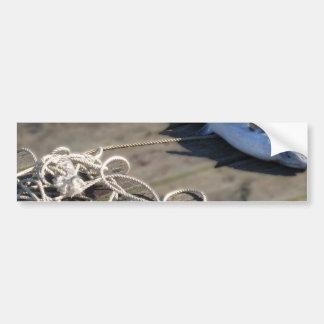 Rope retrieved heavy fish bumper stickers
