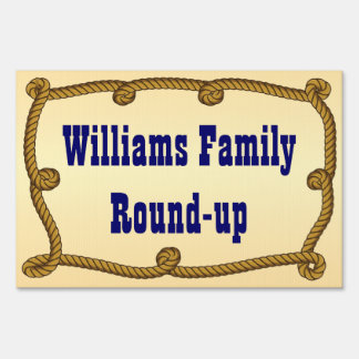 Rope - round-up yard sign