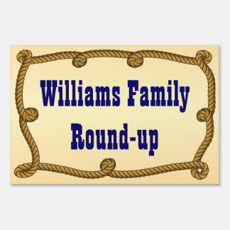 Rope - round-up yard sign