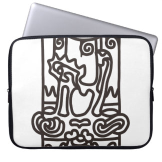 < Rope sentence (brown) >The JOHMON art (brown) Laptop Sleeve
