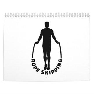Rope skipping calendar