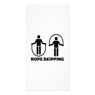 Rope skipping card