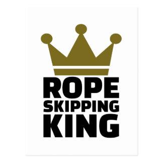 Rope skipping king postcard