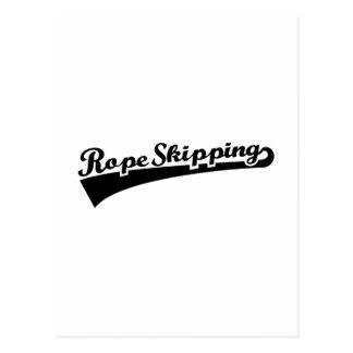 Rope skipping postcard