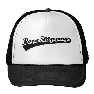 Rope skipping trucker hat