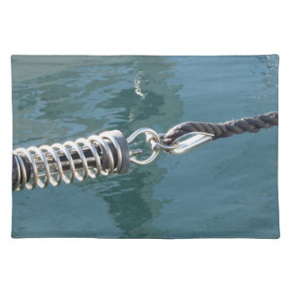 Rope sling with safety anchor shackle cloth placemat