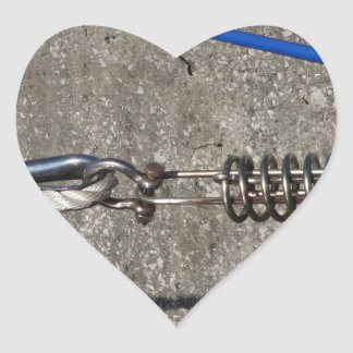 Rope sling with safety anchor shackle heart sticker